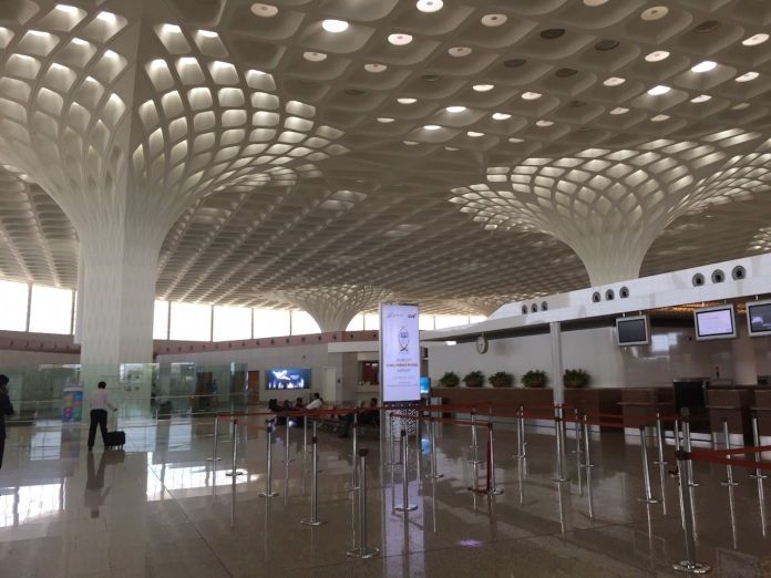 The spacious check in area